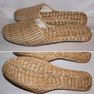 Handmade Slippers Natural Color Braided